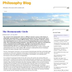 The Hermeneutic Circle | Philosophy Blog
