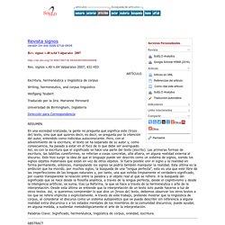 Escritura, hermenéutica y lingüística de corpus