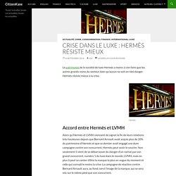 Crise dans le luxe : Hermès résiste mieux - CitizenKane