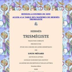 Hermès Trismégiste : étude