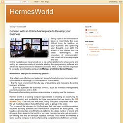 HermesWorld: Connect with an Online Marketplace to Develop your Business