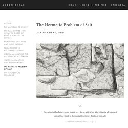 The Hermetic Problem of Salt — Aaron Cheak