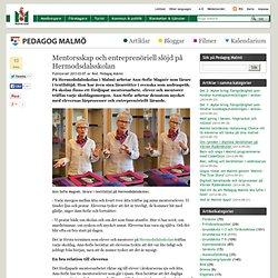 Mentorsskap och entreprenöriell slöjd på Hermodsdalsskolan