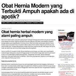 Obat Hernia Modern yang Terbukti Ampuh apakah ada di apotik?