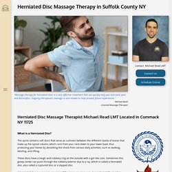 Herniated Disc Massage Therapy by Michael Read, NY