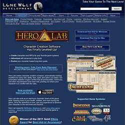Hero Lab - Lone Wolf Development