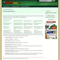 HeroClix Full Set Lists @ HeroMinis.com
