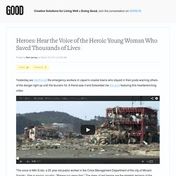 Heroes: Hear the Voice of the Heroic Young Woman Who Saved Thousands of...