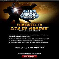 City of Heroes®: The World's Most Popular Superpowered MMO.