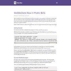 WebSockets Now in Public Beta
