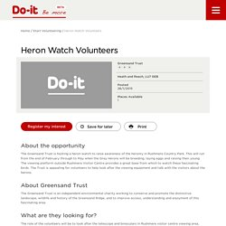 Heron Watch Volunteers - Do-It - Be More