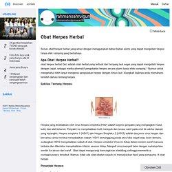 Obat Herpes Herbal - rahmansahrulgun - Kwikku