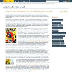 El Cómic como herramienta básica de motivación para la lectura - DetalleActualidad