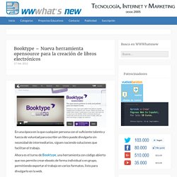 Booktype – Nueva herramienta opensource para la creación de libros electrónicos