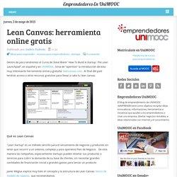Lean Canvas: herramienta online gratis