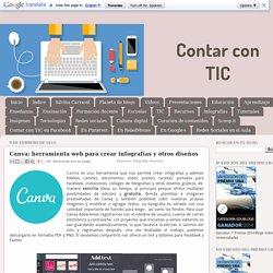 Contar con TIC: Canva: herramienta web para crear infografías y otros diseños