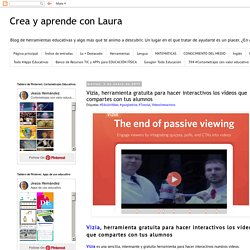 Vizia, herramienta gratuita para hacer interactivos los vídeos que compartes con tus alumnos