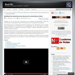 MathDisk herramienta para profesores de matemáticas y física. « Post-TIC