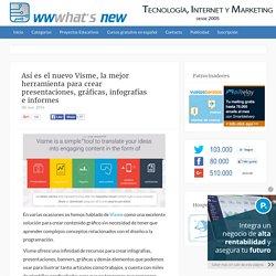 Así es el nuevo Visme, la mejor herramienta para crear presentaciones, gráficas, infografías e informes