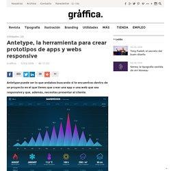 Antetype, la herramienta para crear prototipos de apps y webs responsive