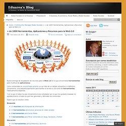 + de 1000 Herramientas, Aplicaciones y Recursos para la Web 2.0