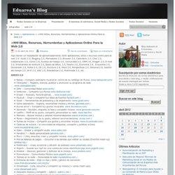 +999 Sitios, Recursos, Herramientas y Aplicaciones Online Para la Web 2.0