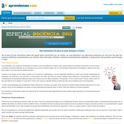 Herramientas 2.0 para el aula siempre a mano - Aprendemas.com