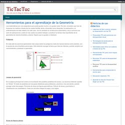 Herramientas para el aprendizaje de la Geometría