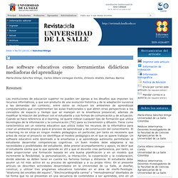 Los software educativos como herramientas didácticas mediadoras del aprendizaje