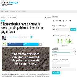 5 herramientas para calcular la densidad de palabras clave de una página web – Cristian Monroy
