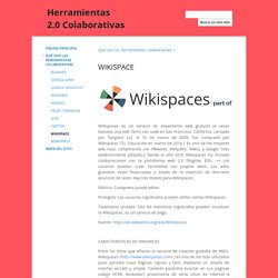 WIKISPACE - Herramientas 2.0 Colaborativas
