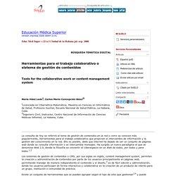 Herramientas para el trabajo colaborativo o sistema de gestión de contenidos