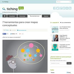7 herramientas para crear mapas conceptuales