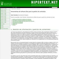 Herramientas de software libre para la gestión de contenidos