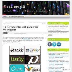 10 Herramientas web para crear y compartir