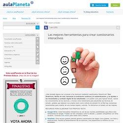 Las mejores herramientas para crear cuestionarios interactivos -aulaPlaneta