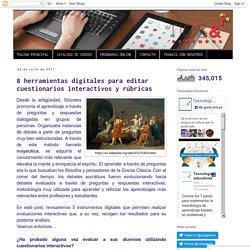 SOLEDAD GARCÉS BLOG: 8 herramientas digitales para editar cuestionarios interactivos y rúbricas