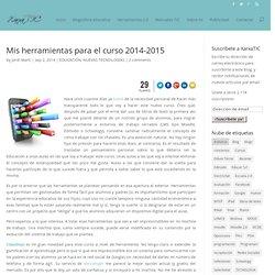 Mis herramientas para el curso 2014-2015