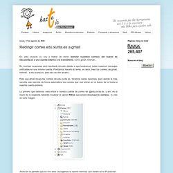 Redirigir correo edu.xunta.es a gmail