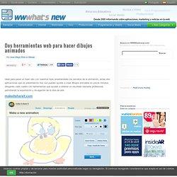 Dos herramientas web para hacer dibujos animados