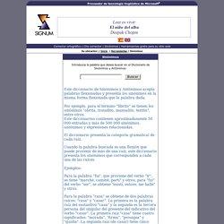 Tesauro - Diccionario de sinónimos y antónimos