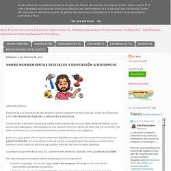 SOBRE HERRAMIENTAS DIGITALES Y EDUCACIÓN A DISTANCIA