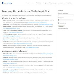 Recursos y Herramientas de Marketing Online - Ecosistema Digital