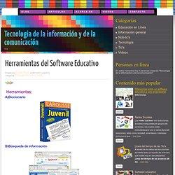 Herramientas del Software Educativo