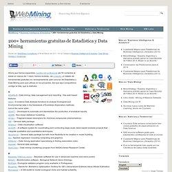 200+ herramientas gratuitas de Estadística y Data Mining