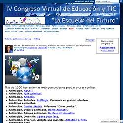 Más de 1300 herramientas 2.0, recursos y materiales educativos y didácticos para experimentar