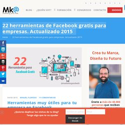 22 herramientas de Facebook gratis para empresas