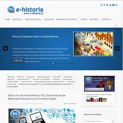 Selección de Herramientas TIC y Generadores de Materiales Educativos en Formato Digital