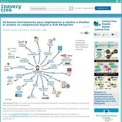 26 buenas herramientas para implementar y ayudar a diseñar al alumno su competencia digital y...
