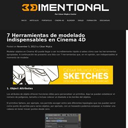 7 Herramientas de modelado indispensables en Cinema 4D – 3Dimentional